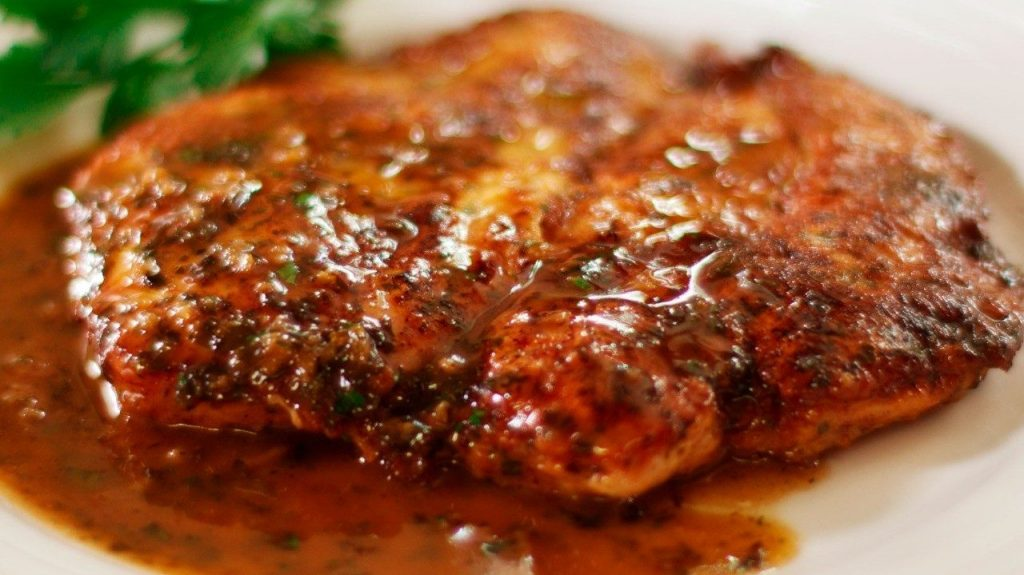 Chicken Francaise coocking