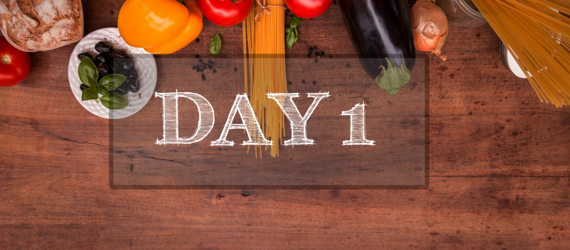 Day 1 of Healthy Meal Plan – What to eat today?