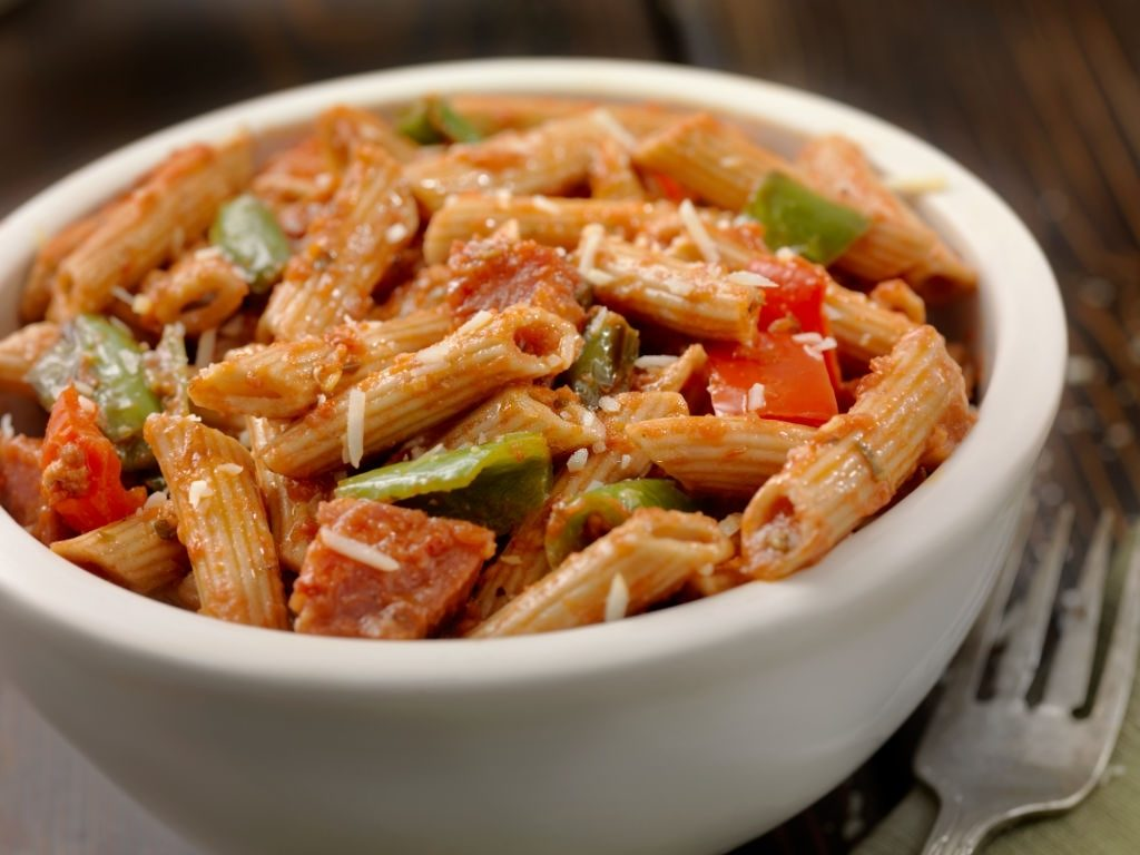 Gluten Free Penne Pasta With Sausage And Peppers