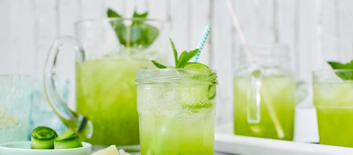 Cucumber Mint Cooler Cocktail