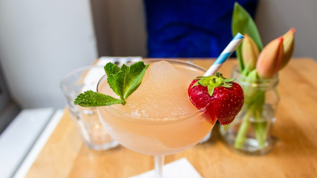 Ingridients For Strawberry Gin Smash