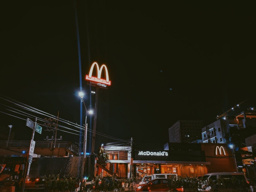 Mcdonald Store At Nigh Time 1656225