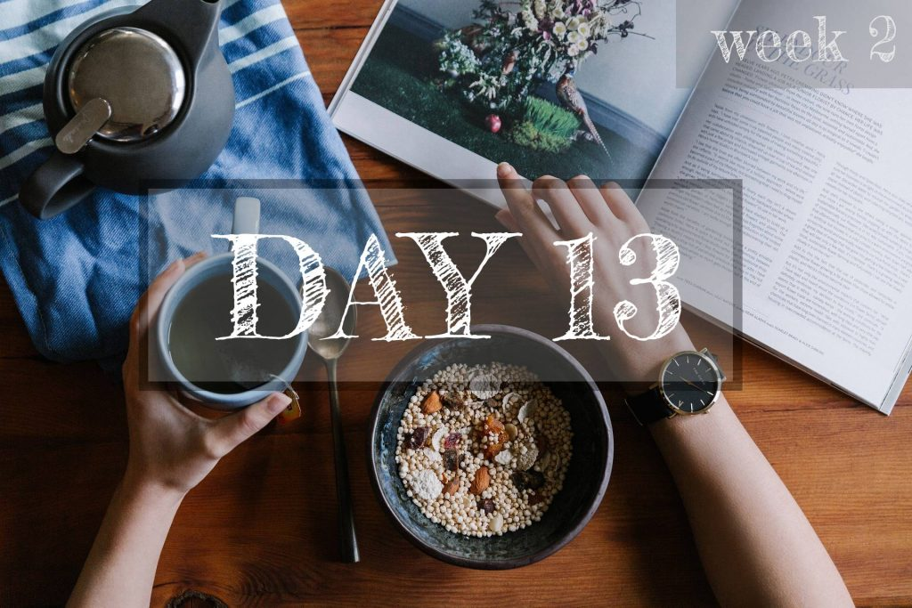 Day 13 of Healthy Meal Plan – What to eat today?