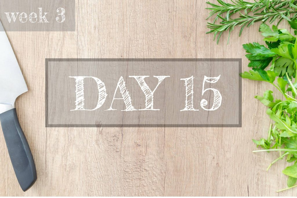Day 15 of Healthy Meal Plan – What to eat today?