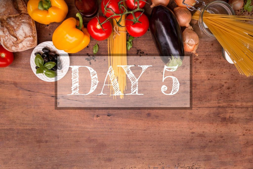 Day 5 of Healthy Meal Plan – What to eat today?