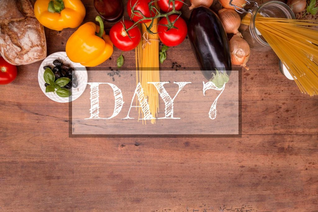Day 7 of Healthy Meal Plan – What to eat today?
