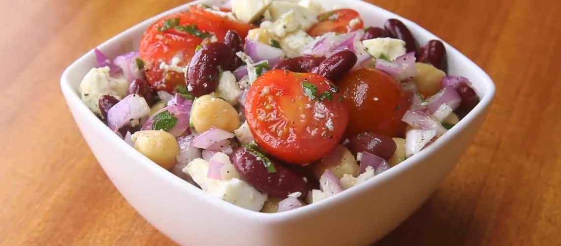 Chickpea Salad and Red Bean